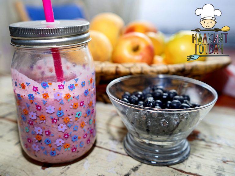 Боровинков шейк с ядково мляко